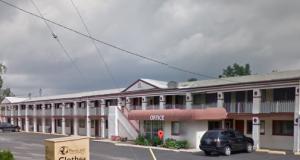 The Motel 9 in Elyria, Ohio.